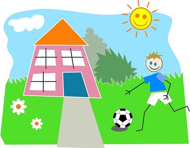 kreslený fotbalista