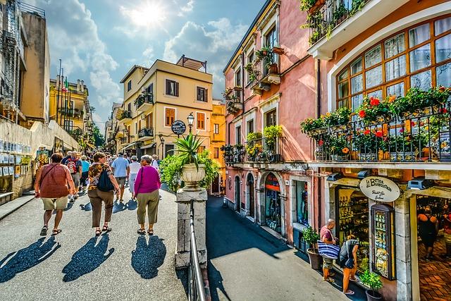 turisté v itálii