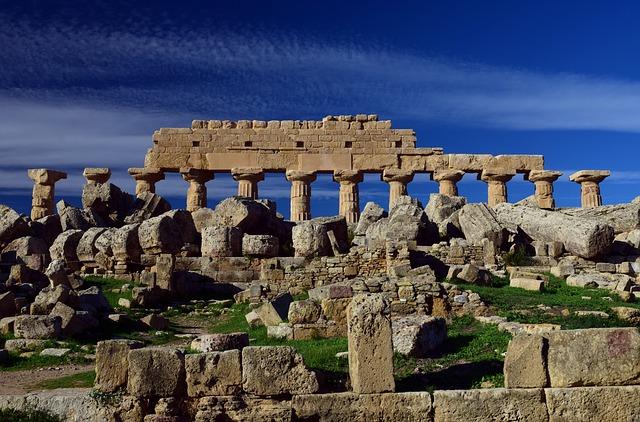 zřícenina v Řecku