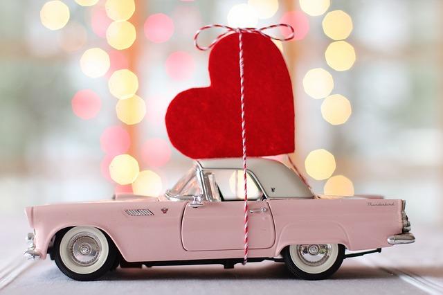 srdce na autě