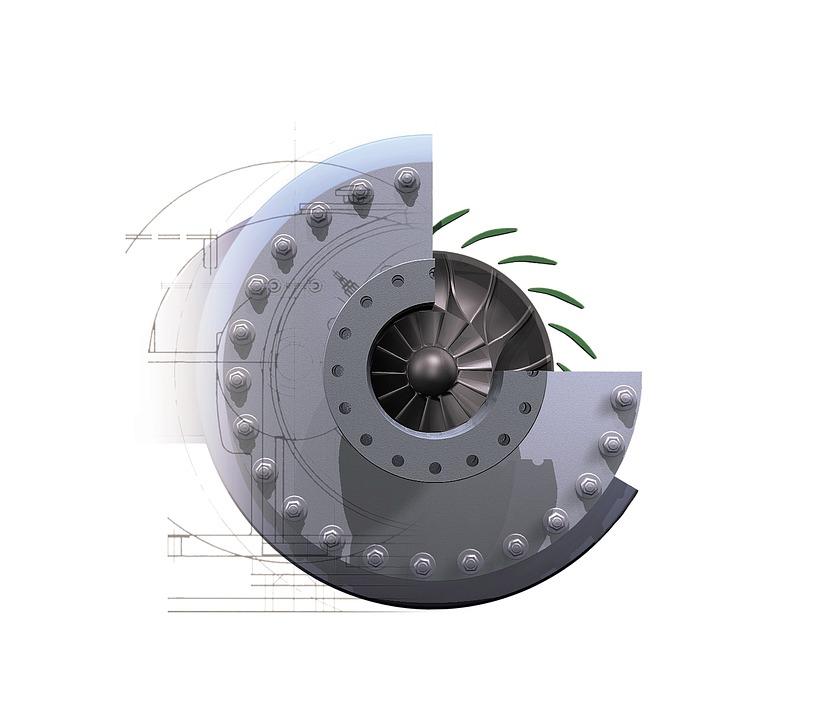 znázornění kompresoru